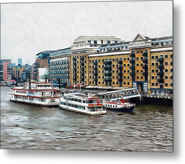Butler's Wharf Area London Metal Print by Dorothy Berry-Lound