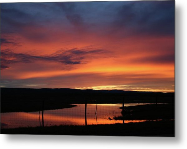 Butte County Sunrise Metal Print