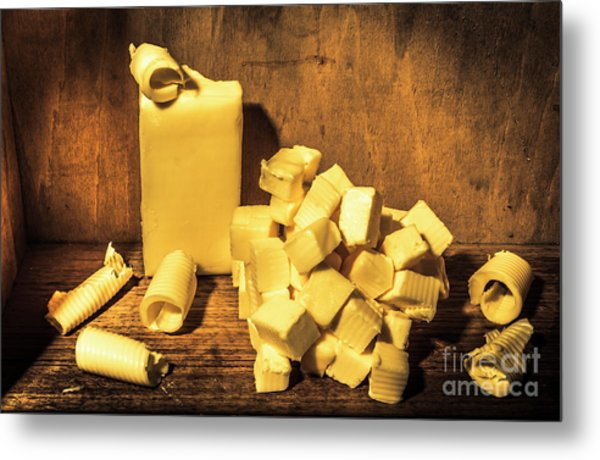 Buttering Up Metal Print