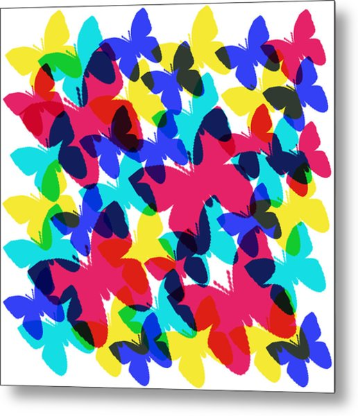 Metal Print featuring the digital art Butterflies by Bee-Bee Deigner
