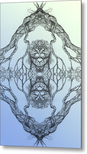 Butterflies Tree 16 Hybrid 3 Metal Print