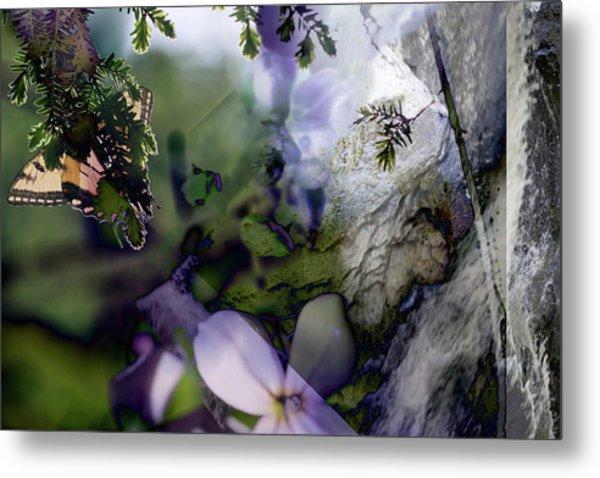 Butterfly Basket Metal Print