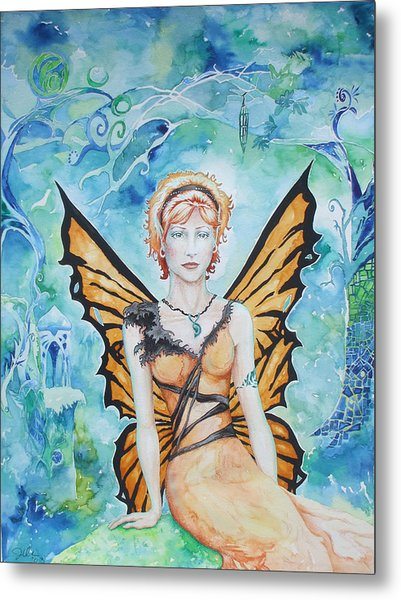 Butterfly Fairy Metal Print by Jennifer Bonset
