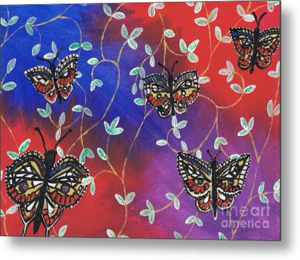 Butterfly Family Tree Metal Print