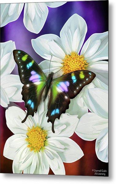 Butterfly Flowers Metal Print