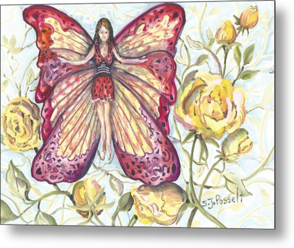 Butterfly Grace Fairy Metal Print