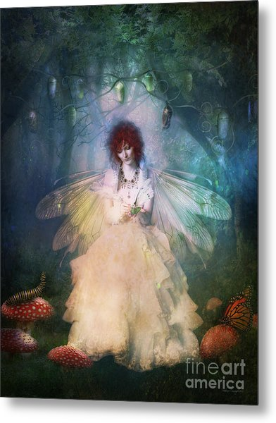 Butterfly Painter Metal Print