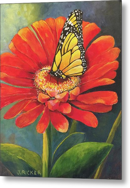 Butterfly Rest Metal Print