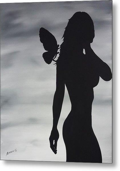 Butterfly Silhouette Metal Print