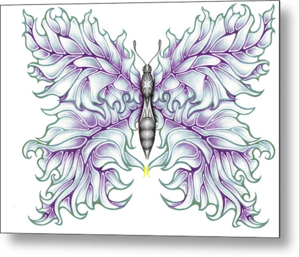 Butterfly Tattoo 2 Metal Print