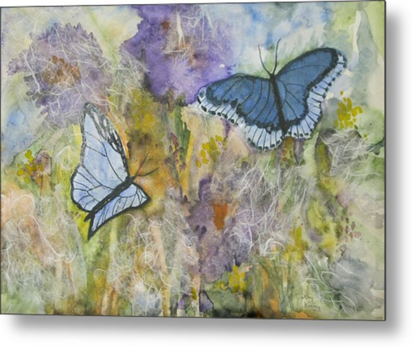 Butterflys On Color Metal Print