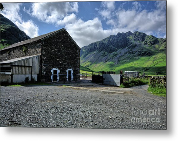 Buttermere Farm Metal Print