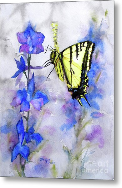 Butteryfly Delight Metal Print