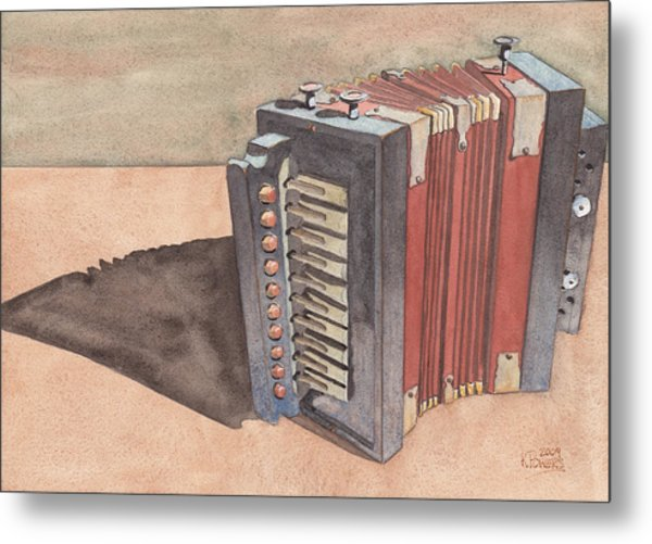 Button Accordion Metal Print