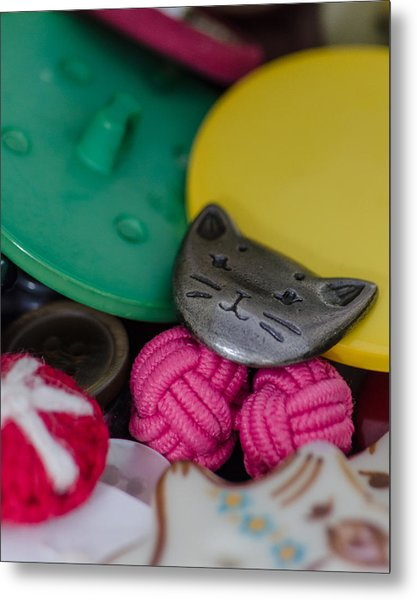 Button Button Box Metal Print