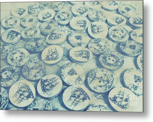 Button Seas Metal Print