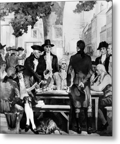 Buttonwood Agreement Founded The New Metal Print by Everett