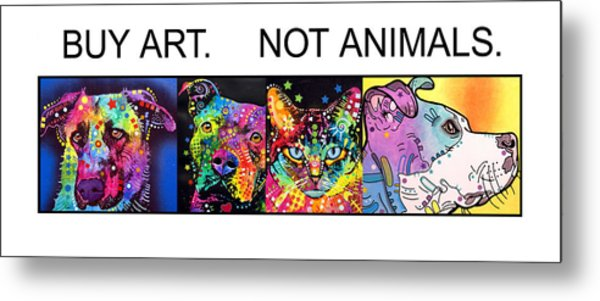 Buy Art Not Animals Metal Print