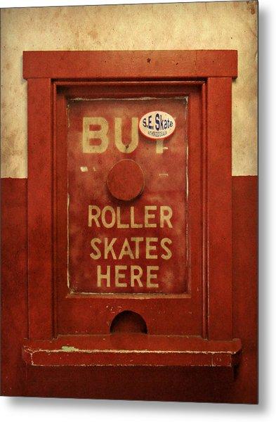Buy Skates Here Metal Print