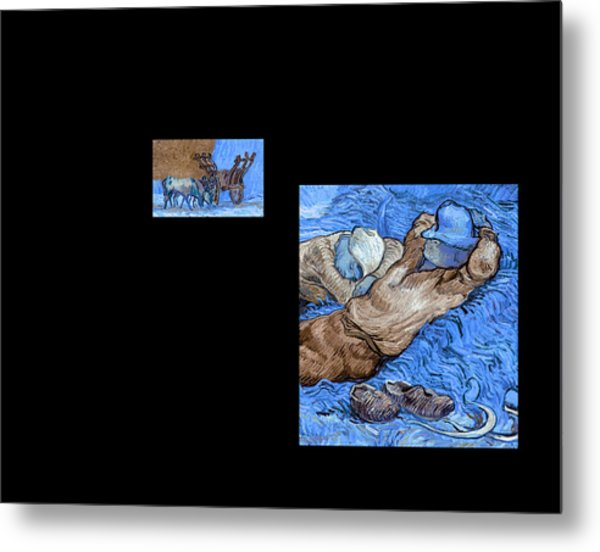 Bw 3 Van Gogh Metal Print