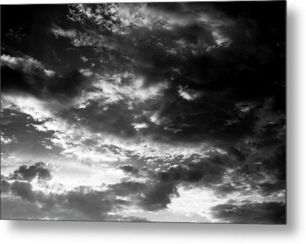 Metal Print featuring the photograph Bw Sky by Eric Christopher Jackson