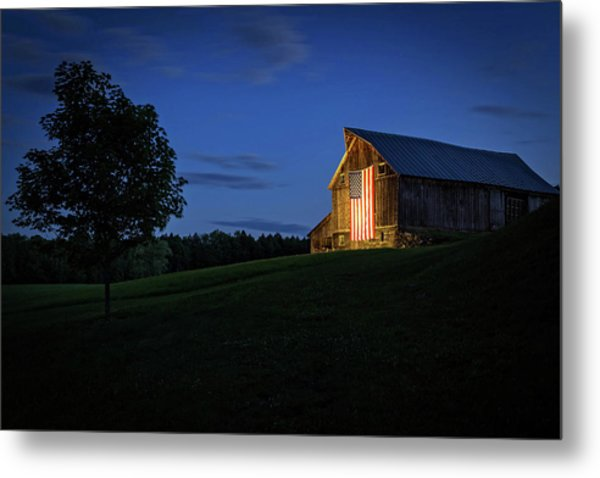 Old Glory By Dusks Early Light Metal Print