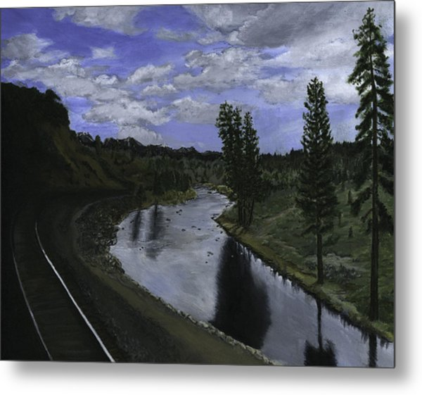 By Rail Metal Print