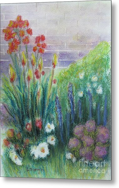 By The Garden Wall Metal Print