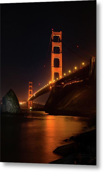 By The Golden Gate Metal Print