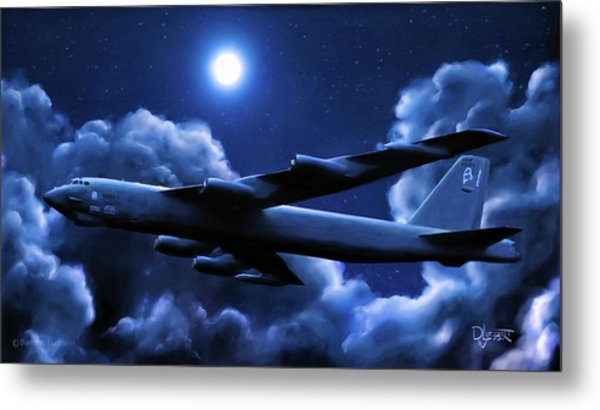 By The Light Of The Blue Moon Metal Print