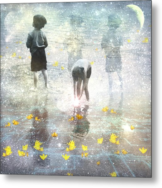 By The Light Of The Magical Moon Metal Print