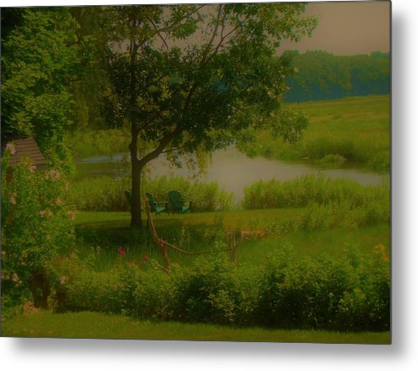 By The Little River Metal Print