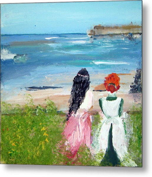 By The Shores By Colleen Ranney Metal Print