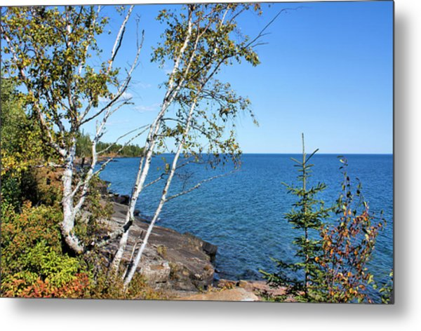 By The Shores Of Gitche Gumee Metal Print