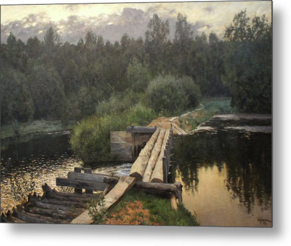 By The Whirlpool Metal Print by Isaac Levitan
