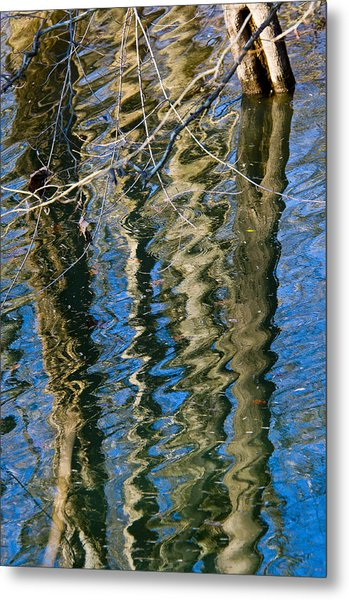 C And O Abstract Metal Print