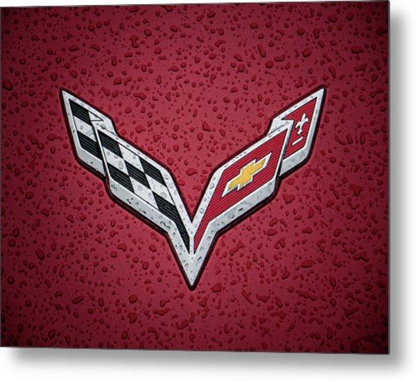 C7 Badge Red Metal Print