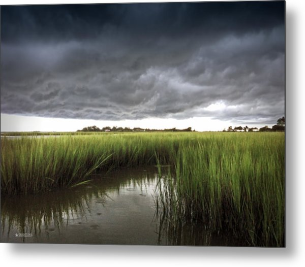Cabbage Inlet Cold Front Metal Print