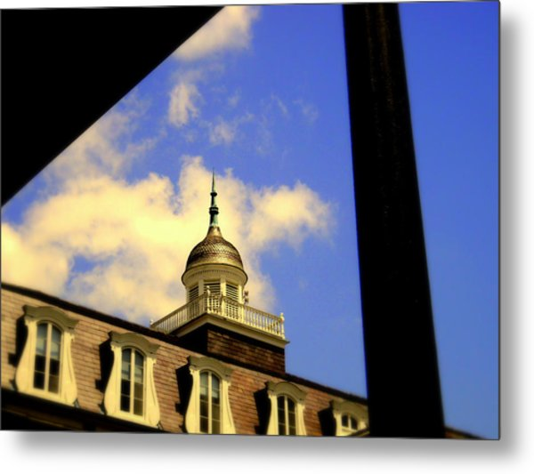 Cabildo Cupola Jackson Square Metal Print by Ted Hebbler