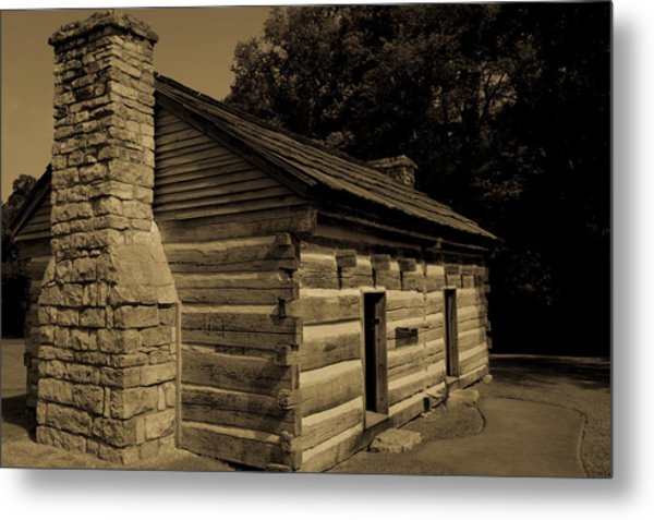 Metal Print featuring the photograph Cabin At The Hermitage by James L Bartlett