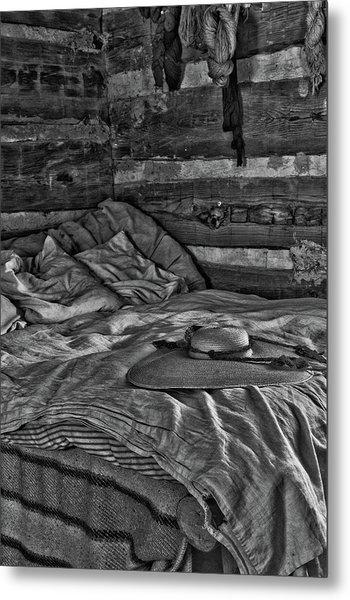 Cabin Bed Metal Print