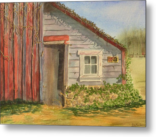 Cabin Fever Metal Print by Ally Benbrook