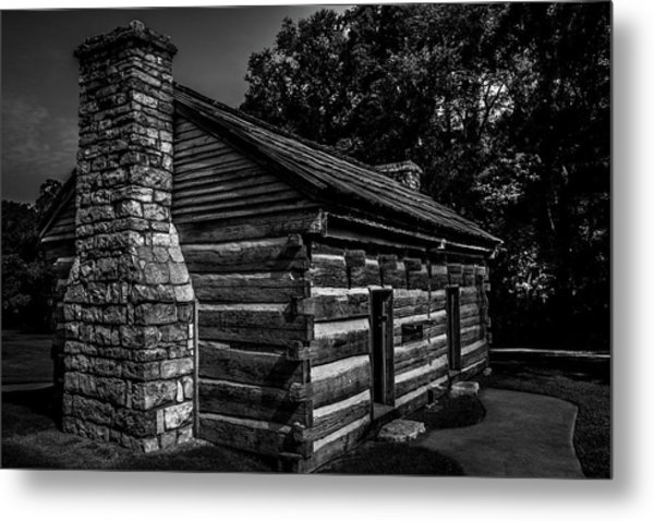 Metal Print featuring the photograph Cabin On The Grounds At The Hermitage by James L Bartlett