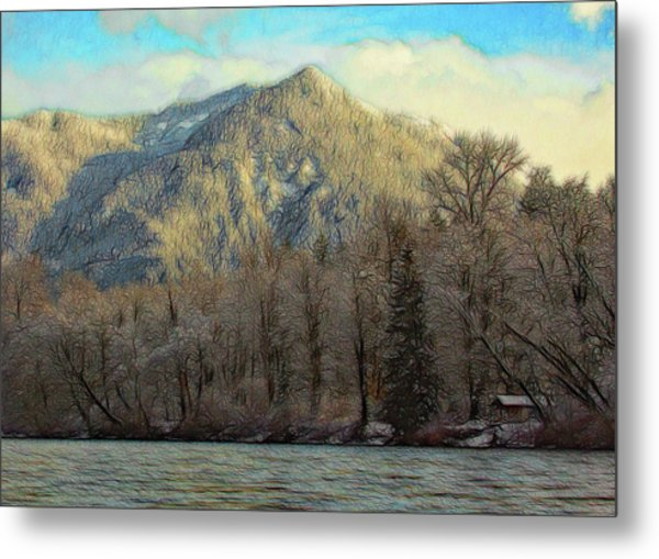 Cabin On The Skagit River Metal Print