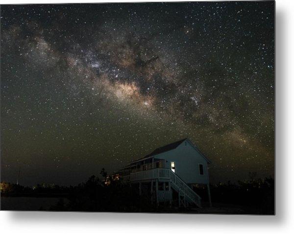 Cabin Under The Milky Way Metal Print