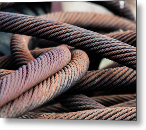 Cable Chaos Metal Print