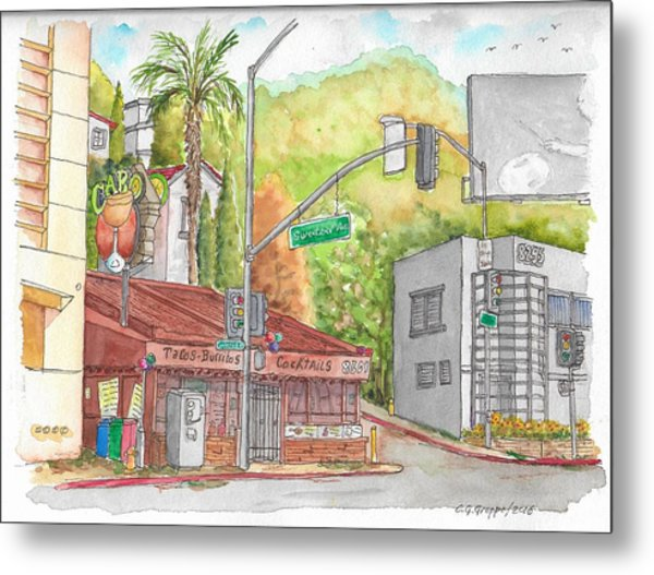 Cabo Cantina, Sunset Blvd And Sweetzer Ave., West Hollywood, California Metal Print