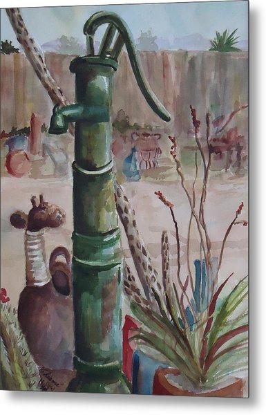 Cactus Joes' Pump Metal Print