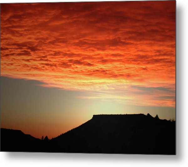 Caddis Sunset Metal Print