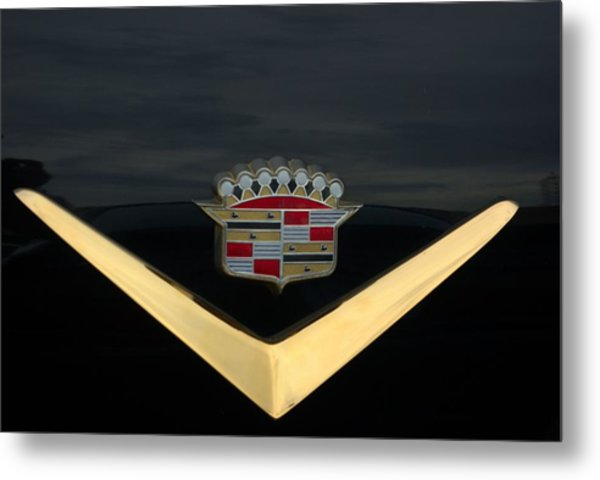 Metal Print featuring the photograph Cadillac Hood Emblem by Tim McCullough